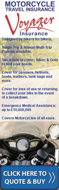 Voyager Motorcycle Travel Insurance